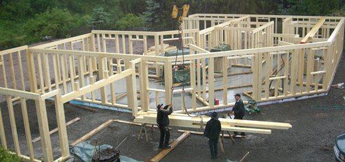 Bei Aufbau des Hauses
